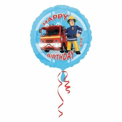 Fireman Sam Happy Birthday Foil Balloon 43 cm (17 inch) Party Event Decoration  - Fireman Balloons