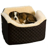 Lovely padded Dog Booster Seat for a car
