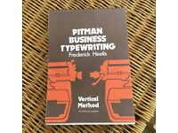 Original Pitman Business Typewriting manual