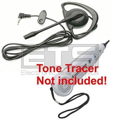 Greenlee Tele-mate Tone Tracer 500xp Hands Free Mini Headset 4ft Cord 2.5mm Plug