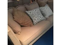 Large contemporary 4 Seater Designer Fabric Sofa