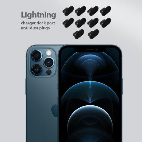 10 set pack iPhone 12 pro Charging Port Cover Lightning Plug Anti Dust Cap
