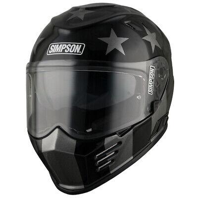 Simpson Venom Subdued Full Face Motorcycle Helmet Bike PinLock Medium SRP £299