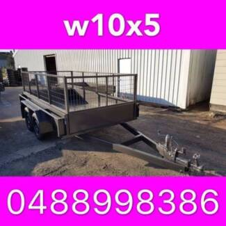 10x5 TANDEM TRAILER WITH CAGE EXTRA HEAVY DUTY FULL CHECKER PLATE