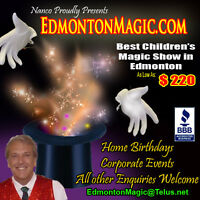 """Affordable """"In-Your-Home"""" Childrens Birthday Magician"""