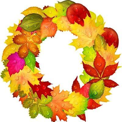 30 Custom Fall Leaves Wreath Personalized Address Labels