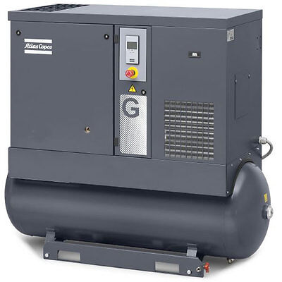 Atlas Copco G11 15-HP 120-Gallon AP Rotary Screw Air Compressor (208-230/460V...