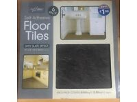 5 packs Grey Slate Effect Vinyl Tiles