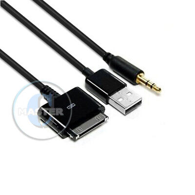 Ipod Nano Aux Cable (CAR AUX 3.5mm AUDIO LINE OUT iPAD USB CABLE for iPOD NANO TOUCH iPHONE 4s 4 3Gs )