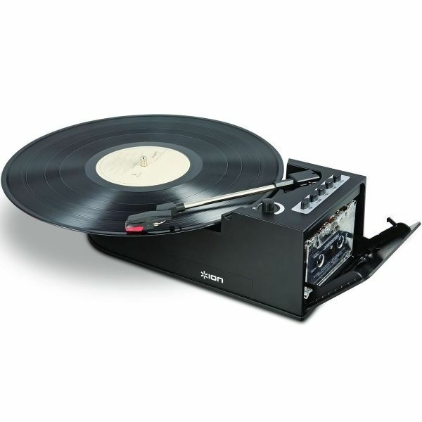 ION Duo Deck 2-in-1 Portable Turntable and Cassette Player
