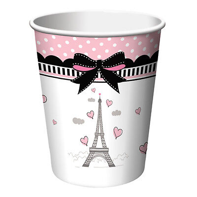 Party in Paris Cups (8) - Birthday Party Supplies