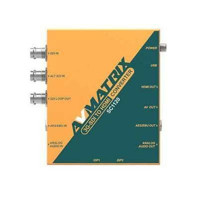 AVmatrix SC1120  3G-SDI to HDMI & AV 1080P to 720p Scaling Converter