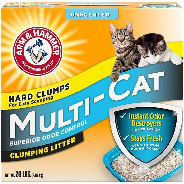 Arm & Hammer Multi-Cat Clumping Litter Unscented, 20 lbs