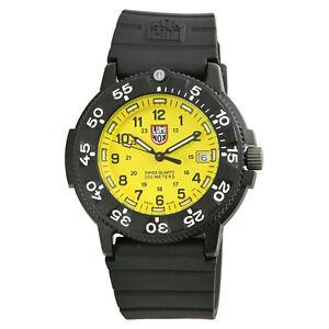 Luminox 3000 original navy seal dive series yellow mens watch 3005 7611382546302 ebay - Luminox navy seal dive watch ...
