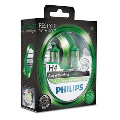 PHILIPS ColorVision H4 12V 60/55W P43t-38 green 2er Blister - 12342CVPGS2