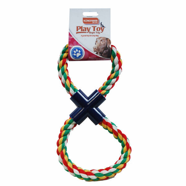 Pets Dog Chew Toys Tough Strong Puppy Rope  Figure of 8 tug of war Outdoor Play