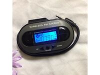 Wireless FM Stereo Modulator/ Transmitter - Play Music from any Device Wirelessly Can Deliver