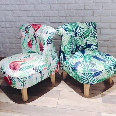 Kids Sofa Chair Furniture Ottoman Flamingo 100% Cotton Pinewood Gift Ins Outdoor