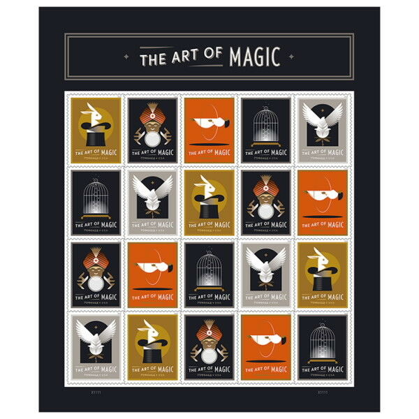 Usps New Art Of Magic Pane Of 20 (designs 5)