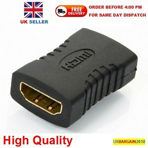 HDMI EXTENDER FEMALE TO FEMALE ADAPTER JOINER CONNECTOR COUPLER for 1080P HDTV