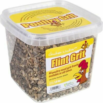 Agrivite Chicken Hen Lickin Mixed Poultry Grit Flint Food Digestion Aid 1.5kg 1L