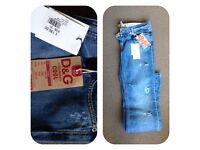 Women's D&G size 31 Jeans BRAND NEW WITH TAGS