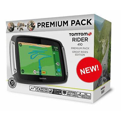 TomTom Rider 410 Great Rides Premium Edition Motorcycle Motorbike GPS Sat Nav