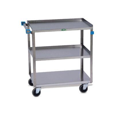Medium Duty Stainless Steel Carts 3 Shelves 31l X 19w X 32h 1 Ea