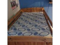 Childrens Single Pine Mid Sleeper Bed