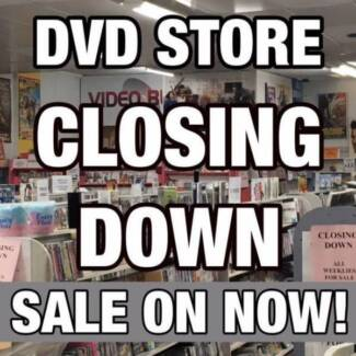 DVD STORE CLOSING DOWN SALE * LAST DAYS * BARGAIN MOVIES GALORE