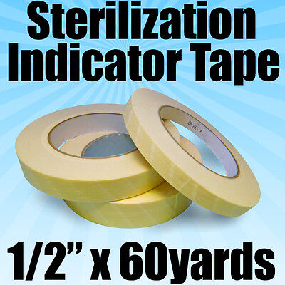 Starryshine 12 X 60 Yds Autoclave Sterilization Indicator Tape Tattoo Dental