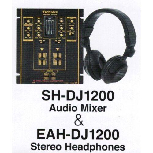 Technics SH-DJ1200 Audio Mixer & EAH-DJ1200 Headphones Miniature Figure New FS