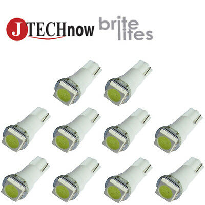 Led - 10 x T5, 5050 SMD LED White Instrument Panel Dash Light Bulb 74 17 18 37 70 2721