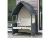 AFK COTTAGE ARBOUR- CHARCOAL AND SAGE