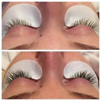 Synthetic mink eyelash extensions!