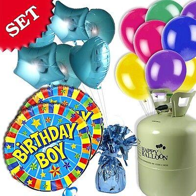 Heliumgas-Set für Jungen-Kindergeburtstag & Kinderparty, 30er Ballongas +Ballons (Geburtstagsparty Für Jungen)