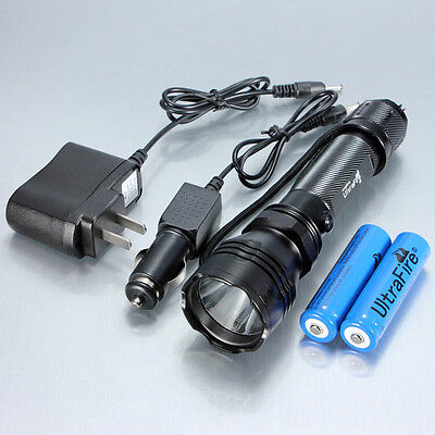 CREE Q5 LED K8 Flashlight Charger+18650 Battery Waterproof Rechargeable Aluminum on Rummage
