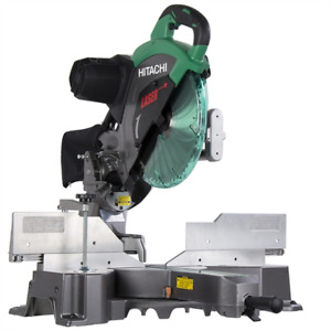 Hitachi 12-in Double Bevel Sliding Laser Compound Mitre Saw