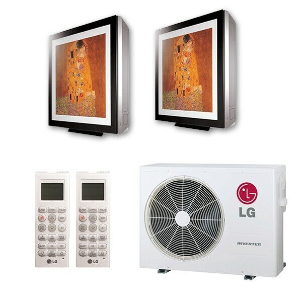 LG Art Cool Gallery Wall Mounted 2-Zone System - 18,000 BTU Outdoor - 9k + 9k...