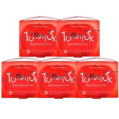 Tonymoly Tomatox Magic Massage Pack 80g 5pcs / White Massage Pack