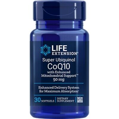 Super Ubiquinol CoQ10 with Enhanced Mitochondrial Support, 50mg, 30 Softgels for sale  Shipping to Ireland