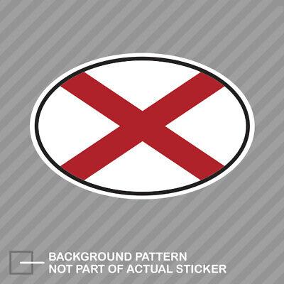Alabama State Flag Oval Sticker Decal Vinyl V4 AL Alabama Oval Sticker Decal
