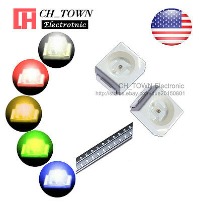 5 Lights 100pcs 1210 3528 Smd Smt White Red Yellow Green Led Diodes Mix Kits