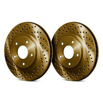 For BMW 650i 12-18 Chrome Brakes Drilled & Slotted 1-Piece Rear Brake Rotors