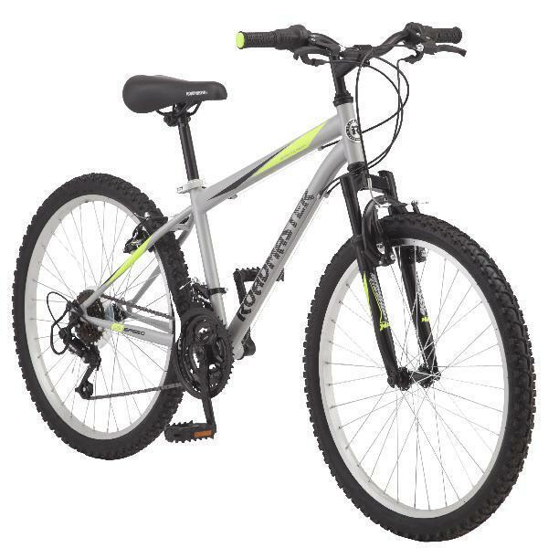 """Roadmaster Boy's Mountain Bike 24"""", 18 Speed Twist Shifter,"""