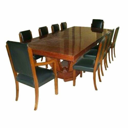 #7025 Understated 11-piece French Art Deco Dining Set circa 1920