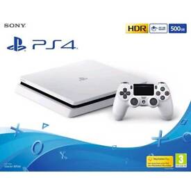 Sony PlayStation 4 500GB glacier white NEW AND SEALED WITH TWO GAMES