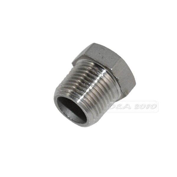 """1/2"""" Male x 1/4"""" female Stainless Steel thread Reducer Bushing Pipe Fitting NPT"""