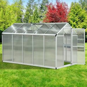 10'x 6.25'x 6.4' Portable Outdoor Walk-In Cold Frame Greenhouse