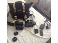 Olympus E-510 camera and accessories